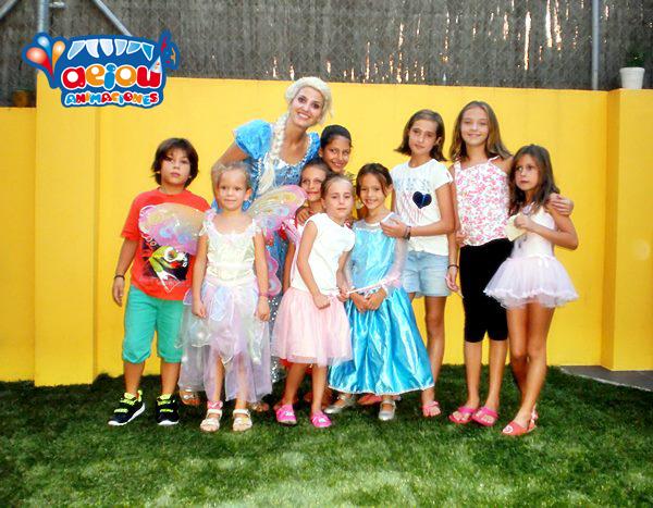 Animaciones para fiestas tematicas infantiles Frozen en Barcelona
